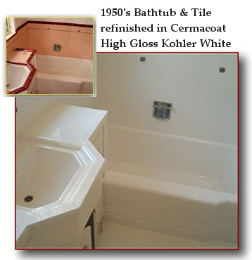 Bathtub refinishing and Bathtub reglazing repair fiberglass